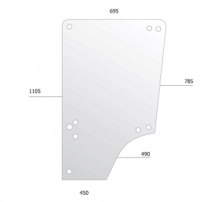 Door Glass for John Deere MC1