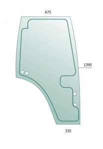 Door Glass RH  for Fendt Farmer, Favorit
