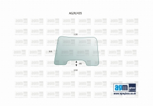 Windscreen for New Holland TS, T, Case Puma, MXU, Maxxum, Steyr Profi