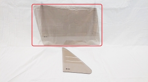Right side door glass brown VW Golf MK1 1974-1983 3D hatchback