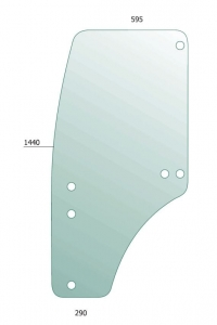 Door Glass LH for John Deere