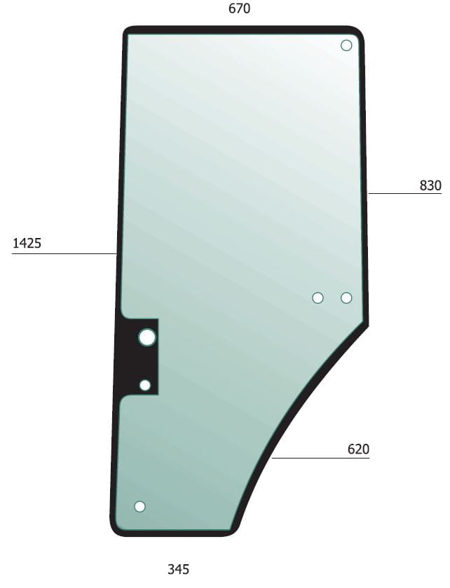 Door Glass Lh For John Deere Agmglass